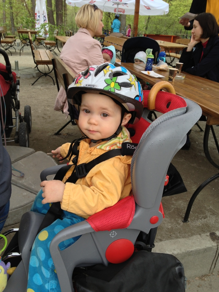 Fotelik rowery Romer Jockey Comofrt + kask Abus Smiley