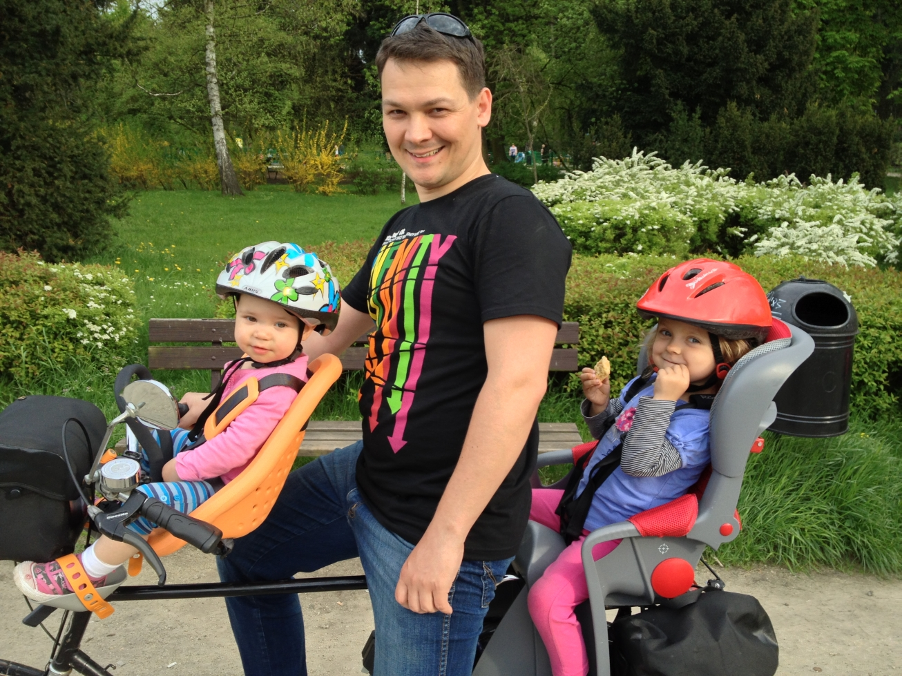 Przedni fotelik rowery Yepp Mini + tylny fotelik rowery Romer Jockey Comfort