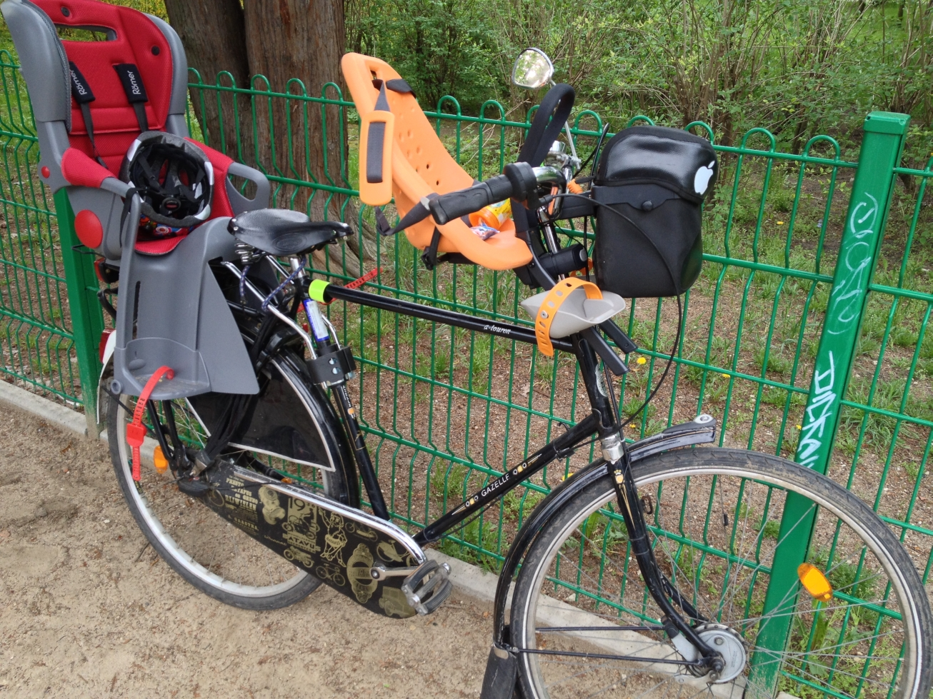Przedni fotelik rowery Yepp Mini rower Gazelle Populair