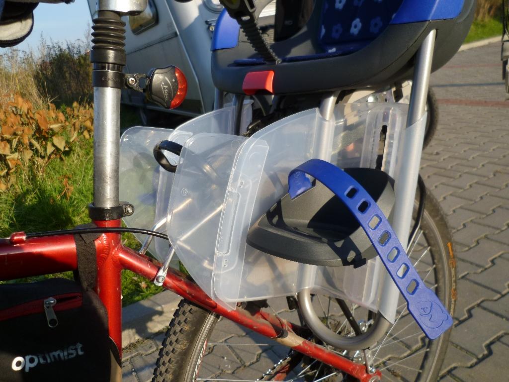 Tylny fotelik rowerowy Qibbel Holland