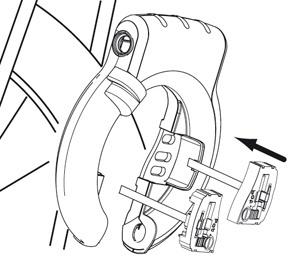 Montaż AXA Defender + adapter podkowy