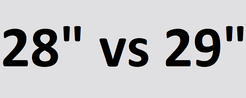 28 vs 29 cali opony