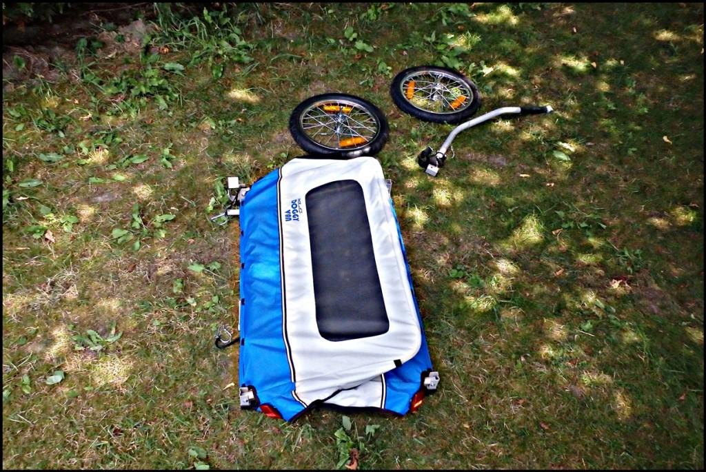 Test przyczepki rowerowej dla psa XLC Doggy Van