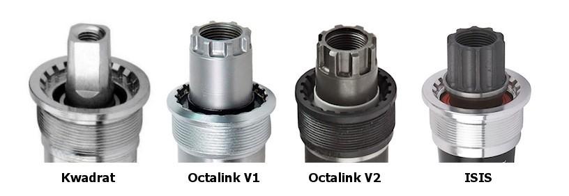 suport rowerowy na kwadrat, Octalink V1, Octalink V2 i ISIS
