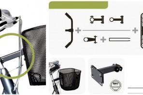 Koszyki rowerowe Basil systemy mocowan na kierownice i sztyce do roweru