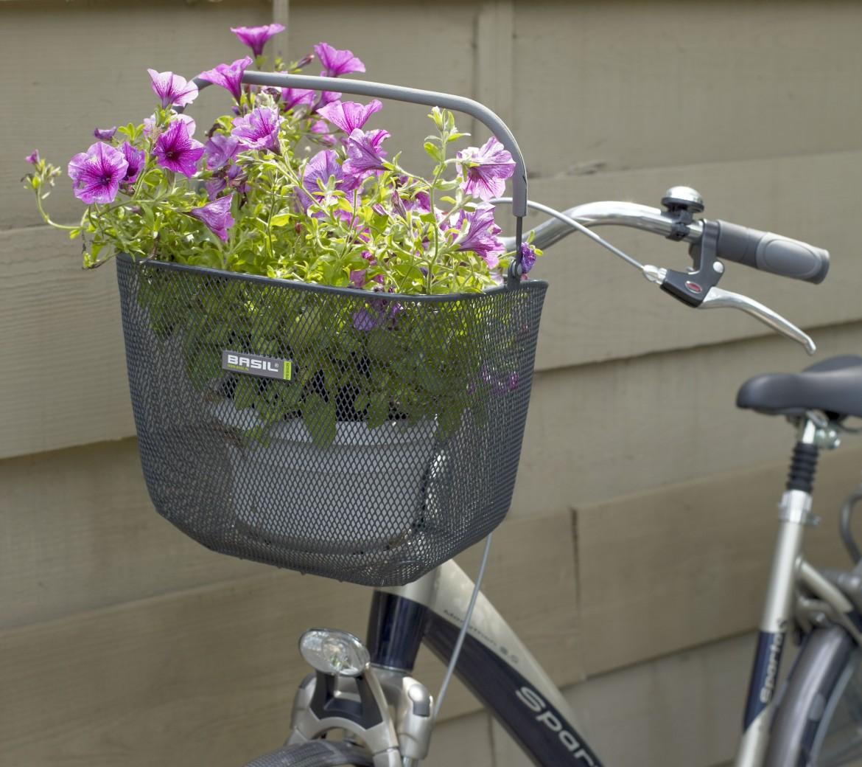 koszyki rowerowe stalowe wiklinowe basil new looxs duze male
