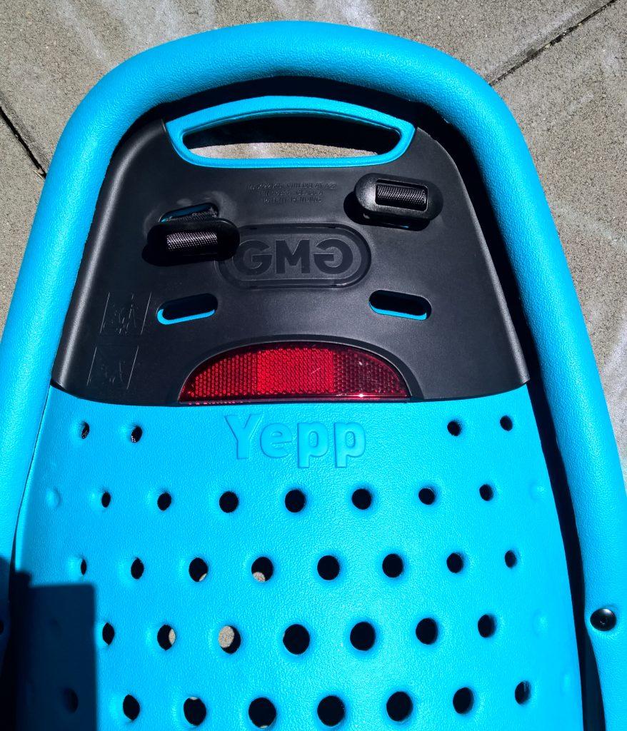 Fotelik rowerowy tylny Yepp Maxi EasyFit odblask tylne otwory wentylacyjne